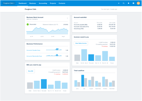 xero software screenshot
